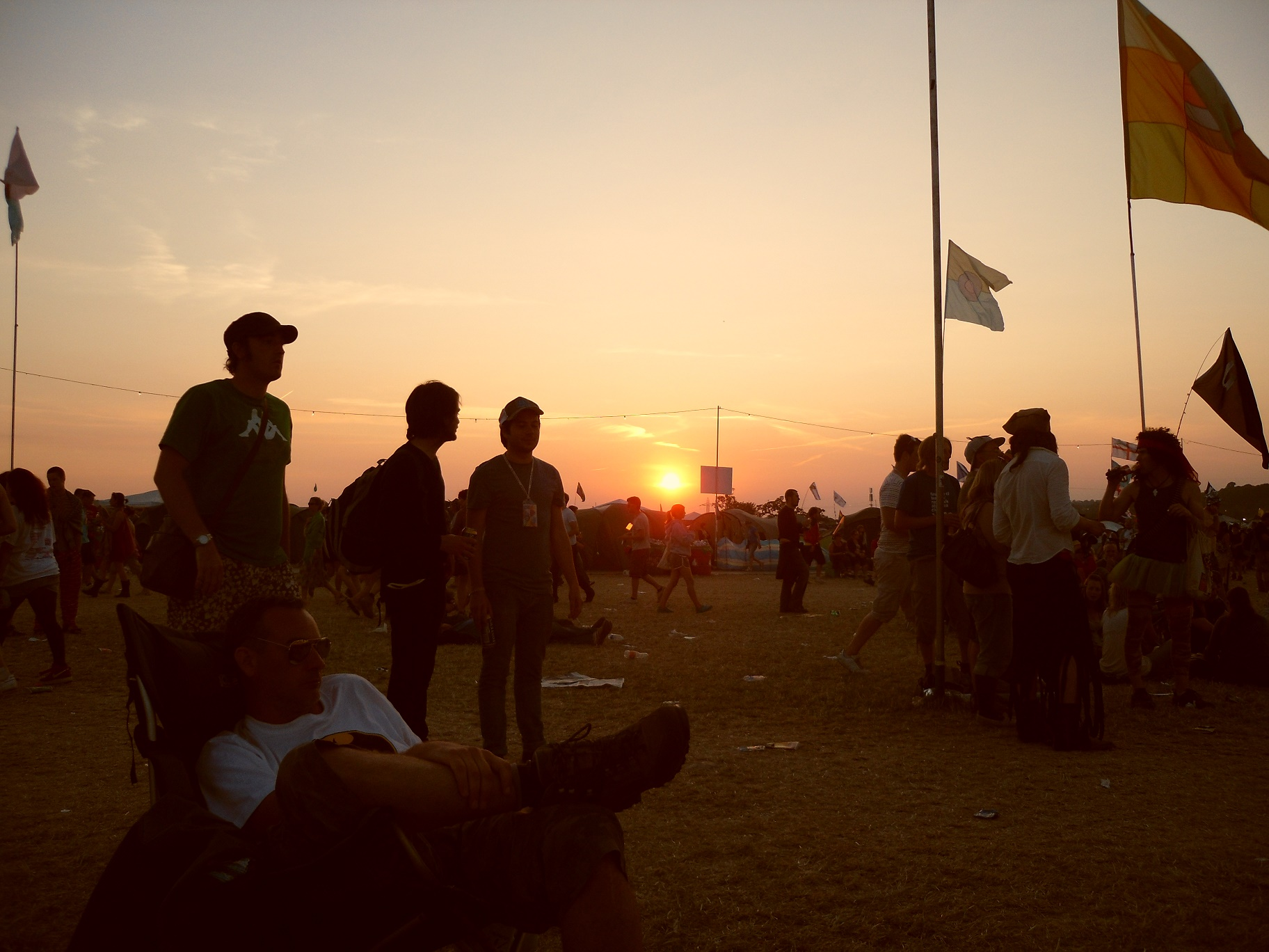 Sunset over Glastonbury 2