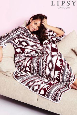 Lipsy fairisle print blanket